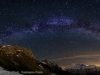 Panorama con la Via Lattea