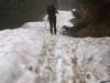 salendo sulla neve