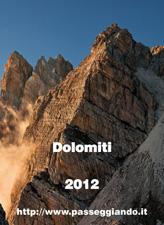 Copertina del Calendario Dolomiti 2012