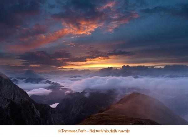 Nel turbinio delle nuvole - Tramonto da Forcella de Zità